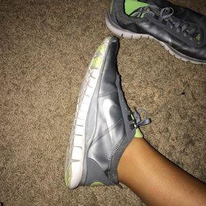 Grey & green Nike shoes